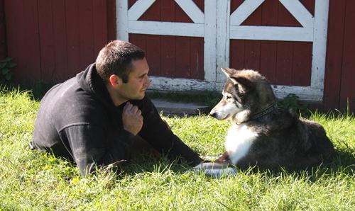Bjørnar og Masi, sommeren 2010. Det var et sterkt bånd mellom disse to.